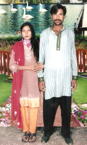 Shahzad Masih and Shama Masih, the Christian couple killed by a mob in Kot Radha Kishan, Kasur. Photo by AFP