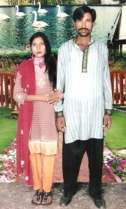 Shahzad Masih and Shama Masih, the Christian couple killed by a mob in Kot Radha Kishan, Kasur. Photo by AFP